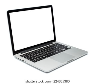 Laptop-Nahaufnahme auf weißem Hintergrund