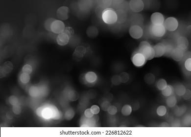 Hintergrund schwarz abstrakt Bokeh für Weihnachten Nacht Licht Urlaub