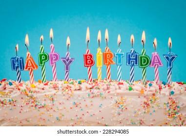 velas de feliz cumpleaños