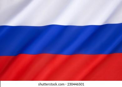 Flagge der Russischen Föderation - Bei der Auflösung der Sowjetunion im Jahr 1991 wurde die alte Flagge (aus dem Jahr 1696) am 11. Dezember 1993 als offizielle Flagge der Russischen Föderation wieder eingeführt.