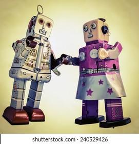 twee verliefde robots