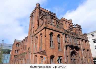 Manchester - ciudad en el noroeste de Inglaterra (Reino Unido). Famoso John Rylands Library.