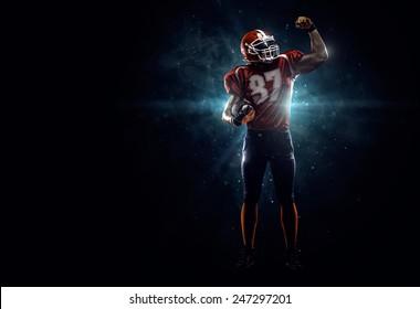 誇り高きアメリカンフットボール選手私は暗い
