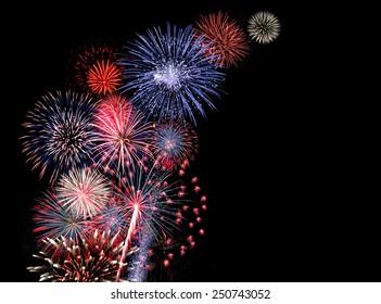 Huge colorful fireworks display