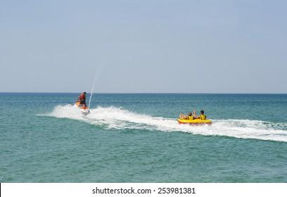 Jetski safariboot Trekbuis Opblaasbare sleep