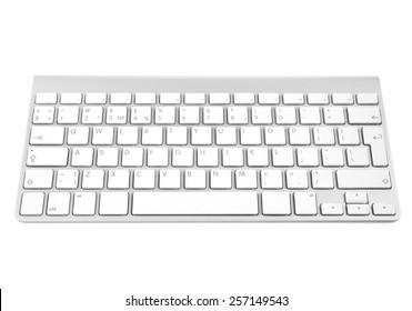 キーボード。白い背景で隔離