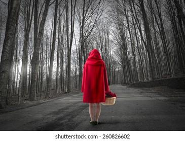 caperucita roja perdida en el bosque