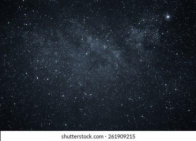 Nachthimmel und Milchstraße
