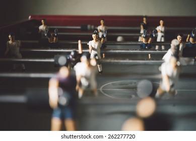 Tischfußballspiel