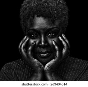 Image of a Very Beautiful Woman On Black