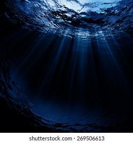 Aguas profundas, fondos naturales abstractos
