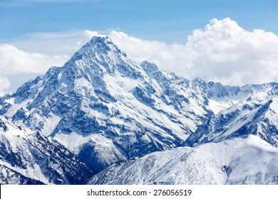 Rusia, Cáucaso, distrito del asentamiento Arkhyz, cima de la montaña Pshish.