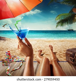 Vacation. Summer tourism. Concept for rest. Close view
