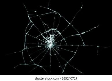 割れたガラスの質感。現実的なひびの入ったガラス効果、概念要素を分離しました。