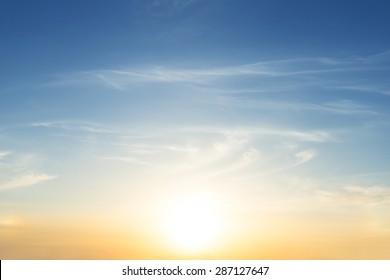early morning sky scene