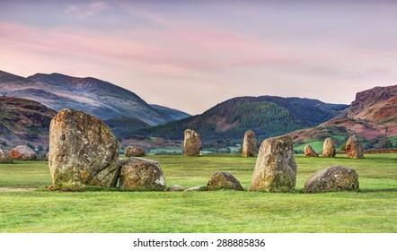 Castlerigg strone circle in Cumbria,England.