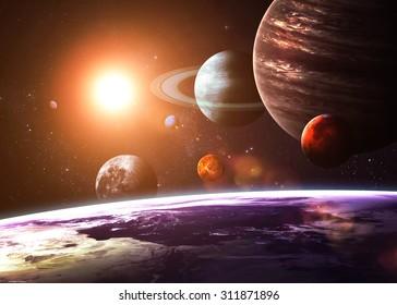 Sonnensystem und Weltraumobjekte. Elemente dieses Bildes von der NASA eingerichtet