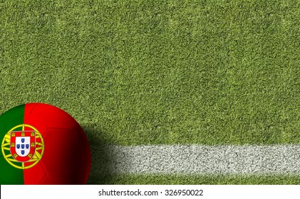 Portugal Ball in einem Fußballfeld