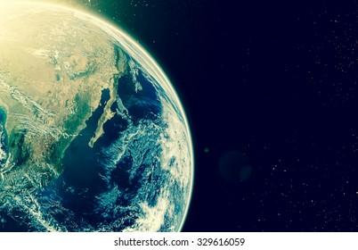 Erde auf Galaxie abstrakte Hintergründe, Elemente dieses Bildes von der NASA, Tag der Erde 22. April 2017 eingerichtet
