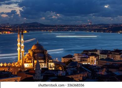 Puente del Bósforo desde la Mezquita de Suleymaniye Estambul