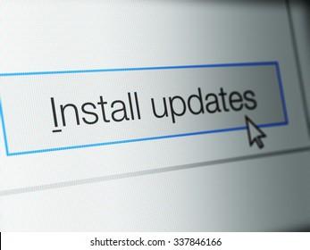 コンピューターのモニター画面に更新ボタンをインストールする