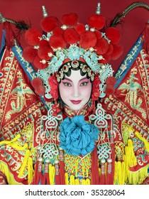 伝統的な北京のオペラ女優