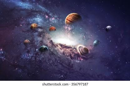 Hochauflösende Bilder zeigen die Entstehung von Planeten des Sonnensystems. Dieses Bild Elemente von der NASA eingerichtet.