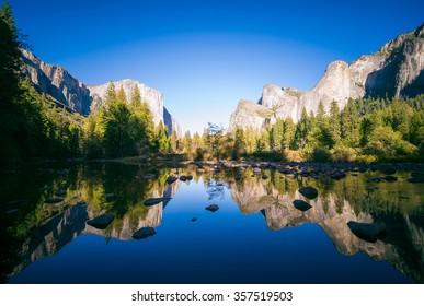 Vista típica del Parque Nacional de Yosemite.