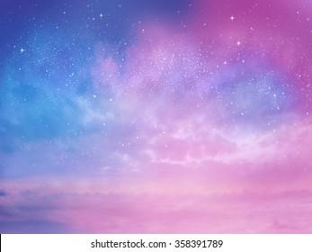 Sonnenuntergang Himmel Stern Hintergrund