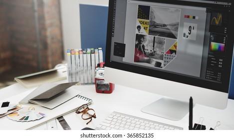 Design Studio Kreativität Ideen Holzpalette Dekoration Konzept
