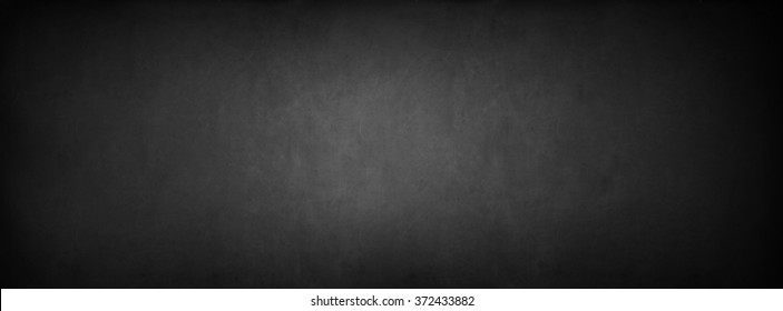 Black Classroom Blackboard Background. Chalk Erased School Chalkboard Vintage Texture. Long format