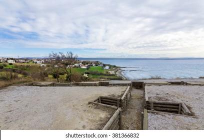 Saddulbahir and V Beach Cemetery view