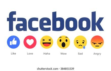 Facebook Like Reactions Logo Vector ( SVG) Free Download