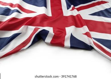 Union Jack Flagge auf einfachem Hintergrund