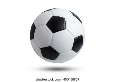 Fußball lokalisiert auf weißem Hintergrund.