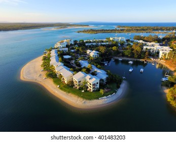 Aerial images of Culgoa Point, Noosa River, Tropical Queensland