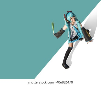 Japón anime cosplay. mujer