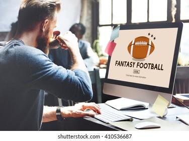 Fantasy Football Entertainment-Spiel spielen Sport-Konzept