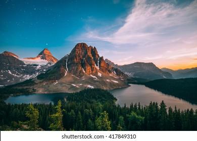 Mount Assiniboine bei Sonnenuntergang