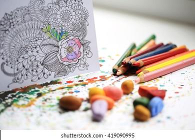 Arte y terapia del color. Libro de colorear Anti Stress Adult.