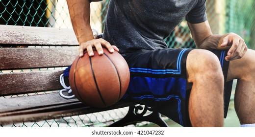 Basketballspieler Athlet Übung Sportstadion Konzept