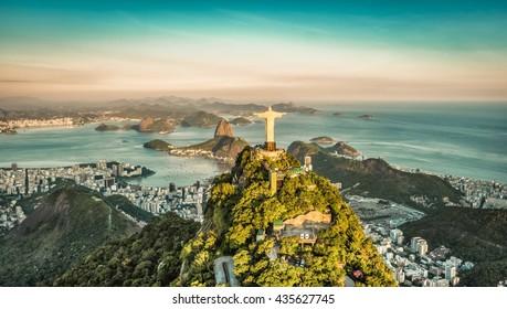 Luftaufnahme der Botafogo-Bucht vom hohen Winkel, Rio De Janeiro