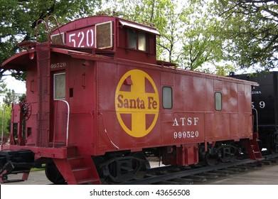 caboose of train in locomotive park, kingsman arizona