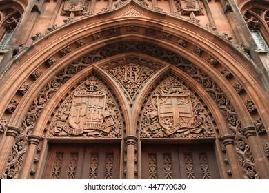 Manchester - ciudad en el noroeste de Inglaterra (Reino Unido). Biblioteca John Rylands.