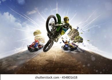 Multi sports motorsport collage