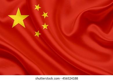 China Flagge aus Seide