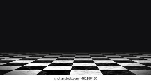與國際象棋棋盤設計角度看背景地板圖案