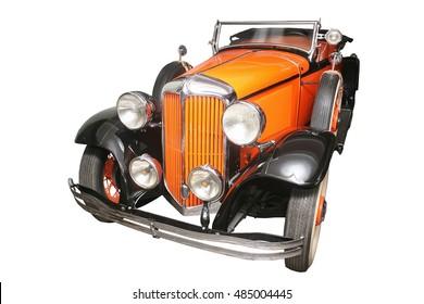 mooie elegante oude auto geïsoleerd op wit