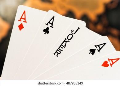 Glücksspielbild, Joker-Spielkarte