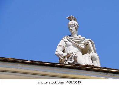 Mars standbeeld dakdecoratie
